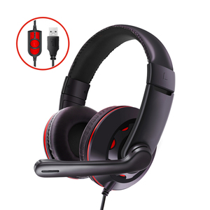 Trands USB Stereo Wired Headset Gaming Headphones with Noise Cancelling Microphone TR-HS799, Black
