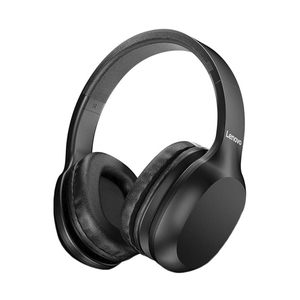 Lenovo Wireless Bluetooth 5.0 Headphone Multi-Mode Stereo Earphone with Mic HD100, Black