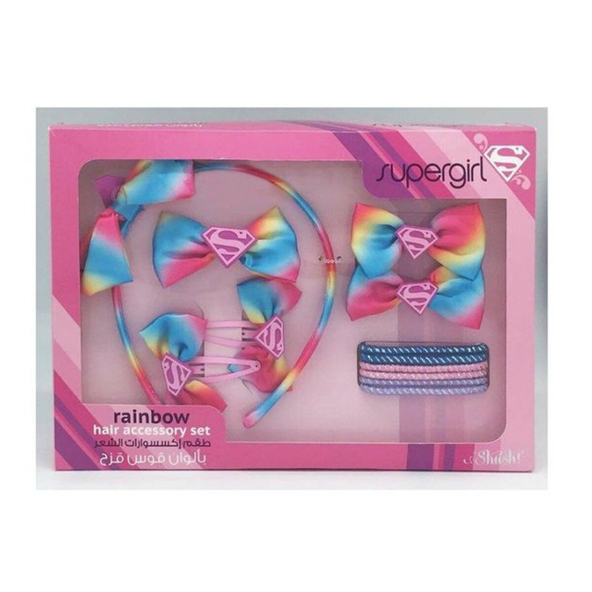 Supergirl Rainbow Hair Accessory Set 46894