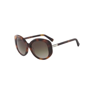 Longchamp Women's Sunglass 601S55 Rectangle Havana