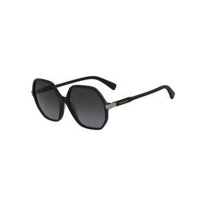 Longchamp Women's Sunglass 613S59 Modified Rectangle Black