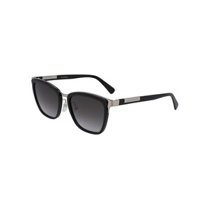 Longchamp Women's Sunglass 643S54 Modified Rectangle Black