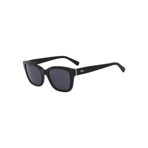 Longchamp Women's Sunglass 632SP53 Black Modified Rectangle Black