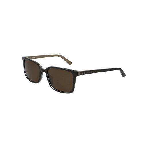 Calvin Klein Men's Sunglass 19504S56 Modified Rectangle Dark BrownBeige