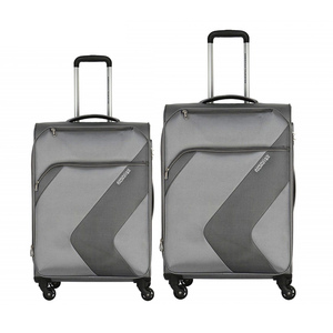 American Tourister Stanford 4Wheel Soft Trolley 67cm+55cm Grey