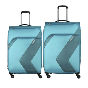 American Tourister Stanford 4Wheel Soft Trolley 67cm+55cm Blue