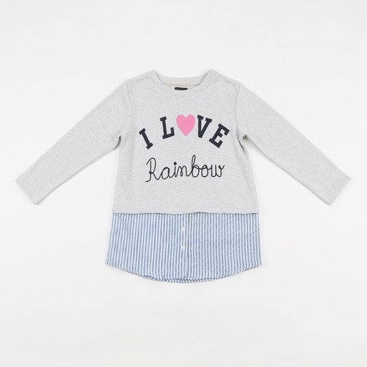 Reo Kid Girl Sweatshirt D9KG110A Grey 2-3Y