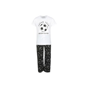 Eten Boys Pyjama Set Short Sleeve White Black PYVJO-05