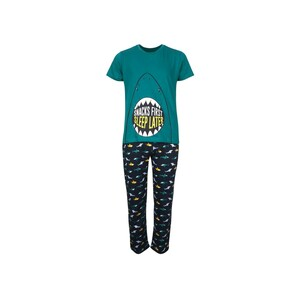 Eten Boys Pyjama Set Short Sleeve Green Navy PYVJO-12