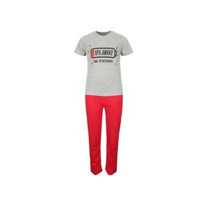 Eten Boys Pyjama Set Short Sleeve Grey Melange Red PYVJO-14