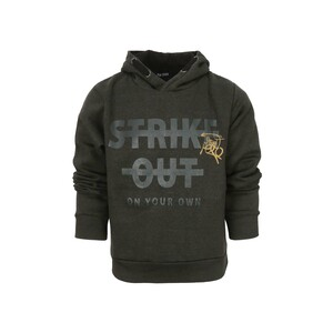 Blue Seven Boys Sweat Shirt With Hood Long Sleeve 670105 Dark Olive