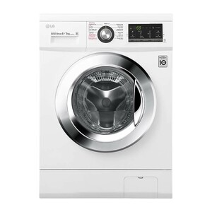 LG Front Load Washer & Dryer FH4G6TDG2 8/5KG, Motion Direct Drive, Steam Technology, Smart Diagnosis™