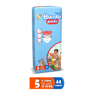 Bambi Diaper Pants Size 5 Extra Large 12-18kg 44pcs