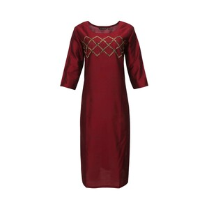 Vesh Women's Silk Kurti Full Sleeve SILKMRN-01 (42)