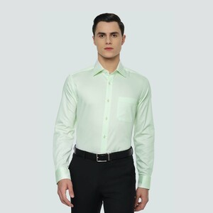 Louis Philippe Men's Shirt Long Sleeve LPSFMCLBF32171 Green
