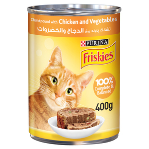 Purina Friskies Wet Cat Food Chicken and Vegetables in Chunkpound 400g