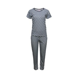 Eten Womens Pyjama Set Short Sleeve TRK RN004, Navy