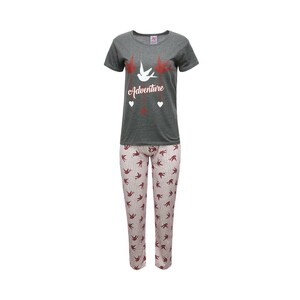 Eten Womens Pyjama Set Short Sleeve TRK RN007, Dark Grey