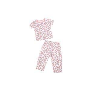 Eten Infants Girls Pyjama Set Short Sleeve White Pink SCCIGSP06