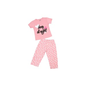Eten Infants Girls Pyjama Set Short Sleeve Pink SCCIGSP02