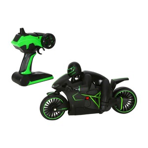 Skid Fusion Remote Control High Speed Rechargeable Motorcycle With Flashlight - Green MT01B (1489233)