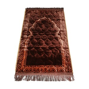 Maple Leaf Quilted Prayer Mat 70x115cm Coffee