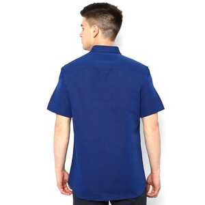 Allen Solly Men's Casual Shirt Half Sleeve ASSHWSPFE23988 Blue 39