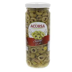 Acorsa Sliced Green olives 230g