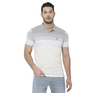 Allen Solly Men's Polo T Shirt Short Sleeve  ASKPWRGF898467 Light Grey