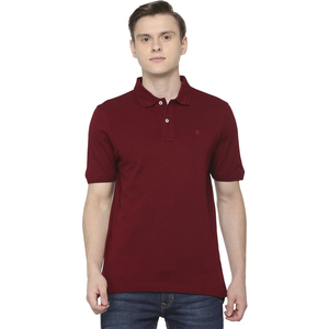 Louis Philippe Men's Polo T Shirt Short Sleeve LPKPMRGBF15463 Maroon