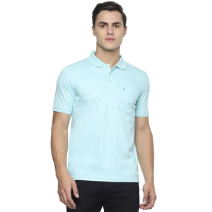 Louis Philippe Men's Polo T Shirt Short Sleeve LPKWMRGPA40116 Light Green