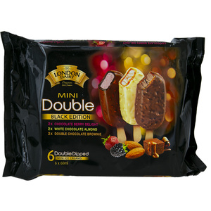 London Dairy Black Edition Double Dipped Mini Ice Creams Chocolate Berry 6 x 60ml