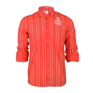 River Blue Men's Casual Shirt Long Sleeve  SM02987L Orange