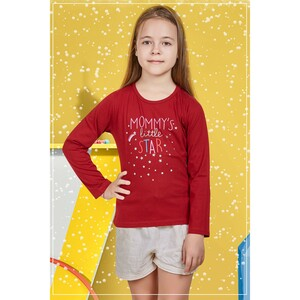Eten Girls Graphic T-Shirt GTLS002 Dark Red