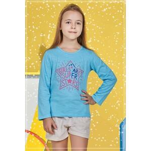Eten Girls Graphic T-Shirt GTLS003 Aqua
