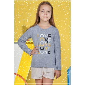Eten Girls Graphic T-Shirt GTLS005 Melange