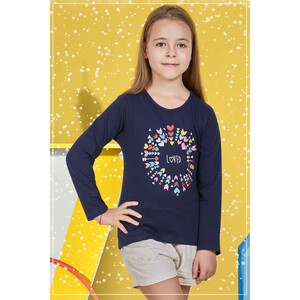 Eten Girls Graphic T-Shirt GTLS006 Navy