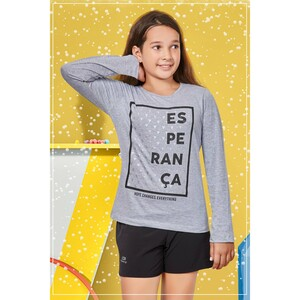 Eten Girls Graphic T-Shirt GTLS008 Melange