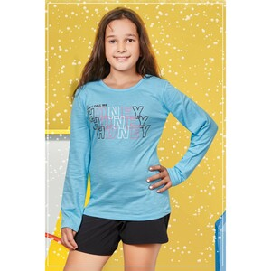 Eten Girls Graphic T-Shirt GTLS009 Aqua
