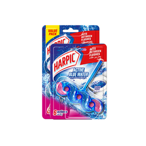 Harpic Toilet Block Active Blue Water Floral Burst 35g 2+1