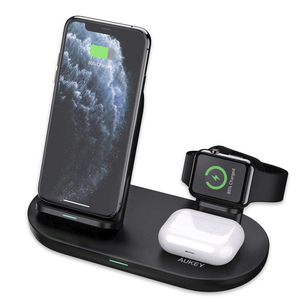 Aukey LC-A3 3 in 1 AirCore Wireless Charging Station Stand Charging Dock