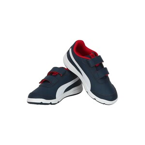 Puma Boys Sports Shoes 19252203 STEPFLEEX White Flame Scarlet