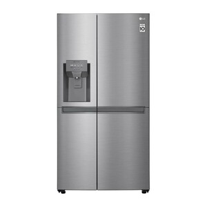LG Side by Side Refrigerator GR-L247SLKV 601LTR, Platinum Silver, Smart Inverter compressor