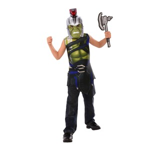 Avengers Hulk Muscle Top & Head Costume - Green G34046