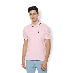 Van Heusen Men's Polo T Shirt Short Sleeve VSKPLRGP778480 Pink
