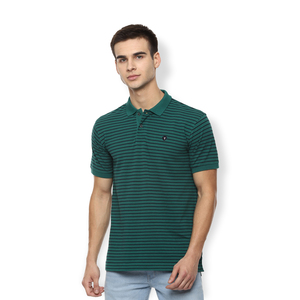 Van Heusen Men's Polo T Shirt Short Sleeve VSKPWRGPM65026 Green