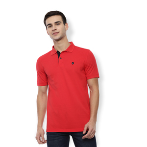 Van Heusen Men's Polo T Shirt Short Sleeve VSKPWRGHO53509 Red