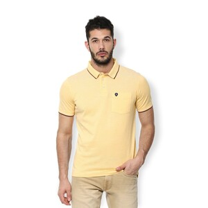 Van Heusen Men's Polo T Shirt Short Sleeve VSKPLRGPK42335 Yellow