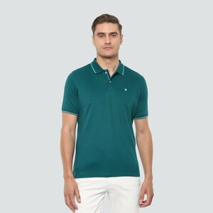 Louis Philippe Men's Polo T Shirt Short Sleeve LPKPMRGF979203 Green