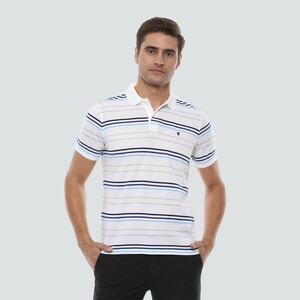 Louis Philippe Men's Polo T Shirt Short Sleeve LPKPMRGBY25710 White
